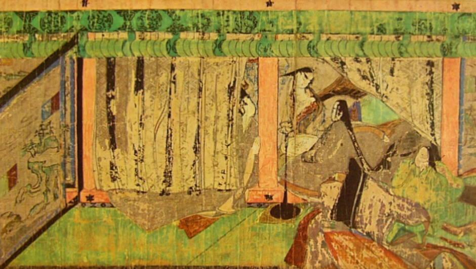 Kapitel 37 - Yokuboe (Papierrolle Yokugawa-Kunstmuseum / Bildquelle Wikipedia)